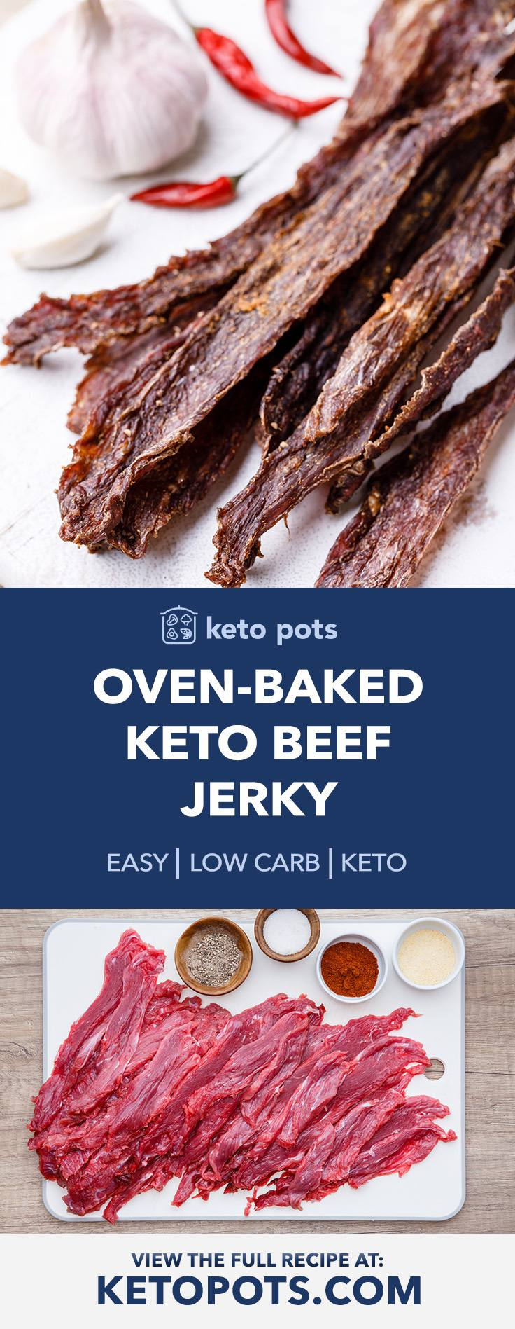 Oven-Baked Low Carb Keto Beef Jerky