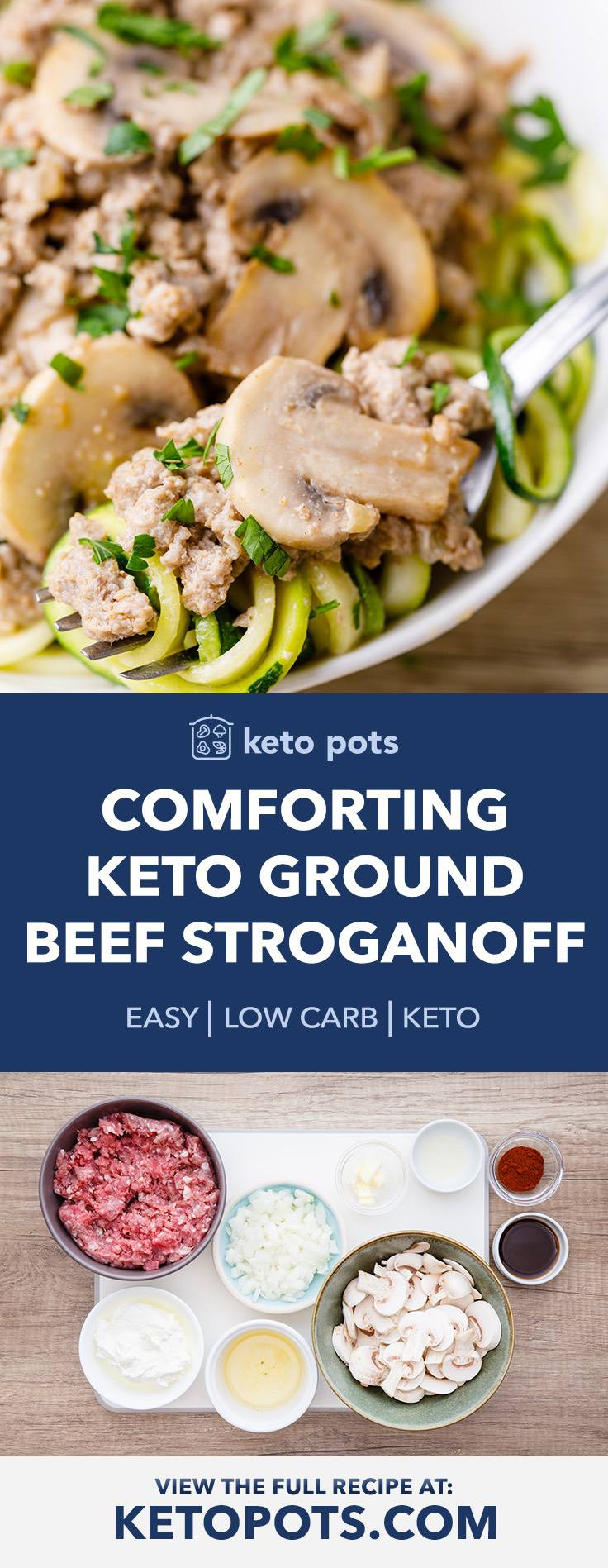 Easy And Comforting Keto Ground Beef Stroganoff