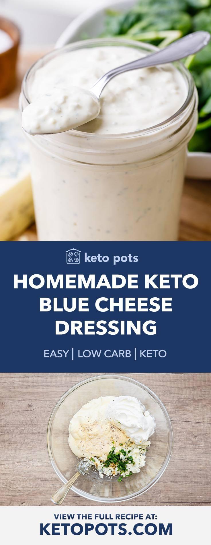 Creamy Homemade Keto Blue Cheese Dressing