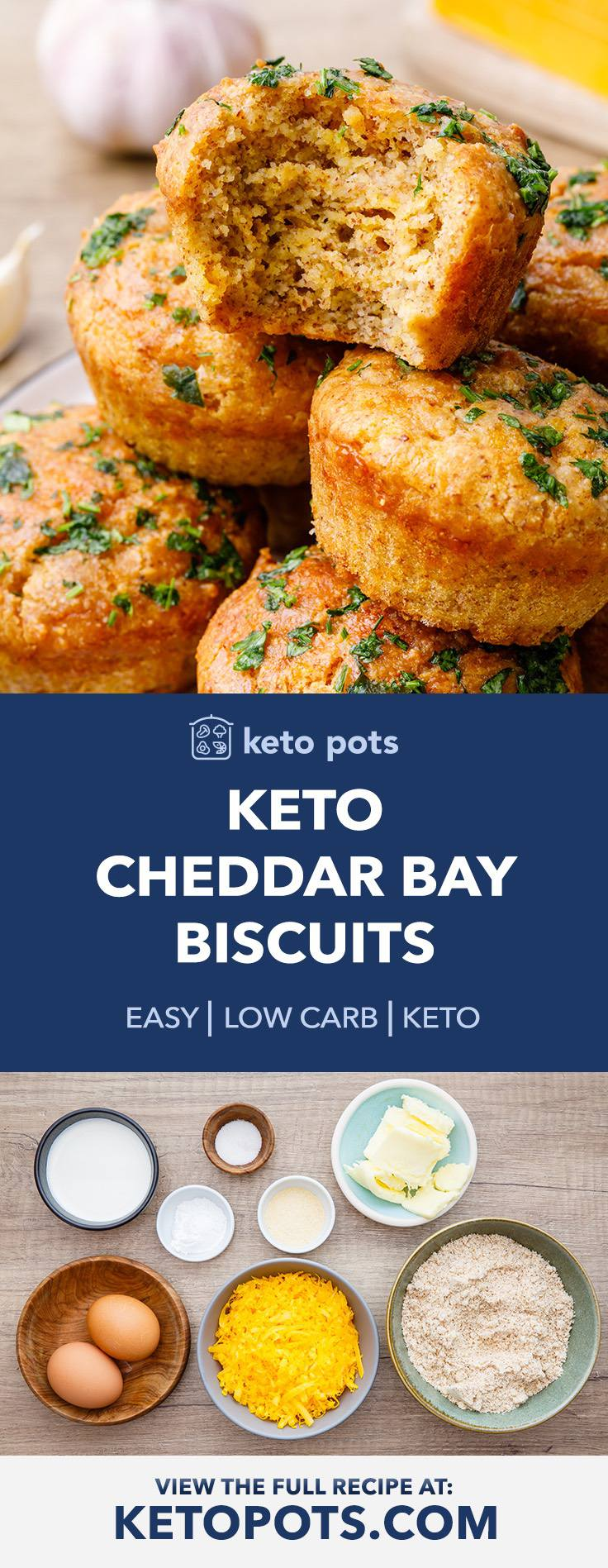 The Best Keto Cheddar Bay Biscuits