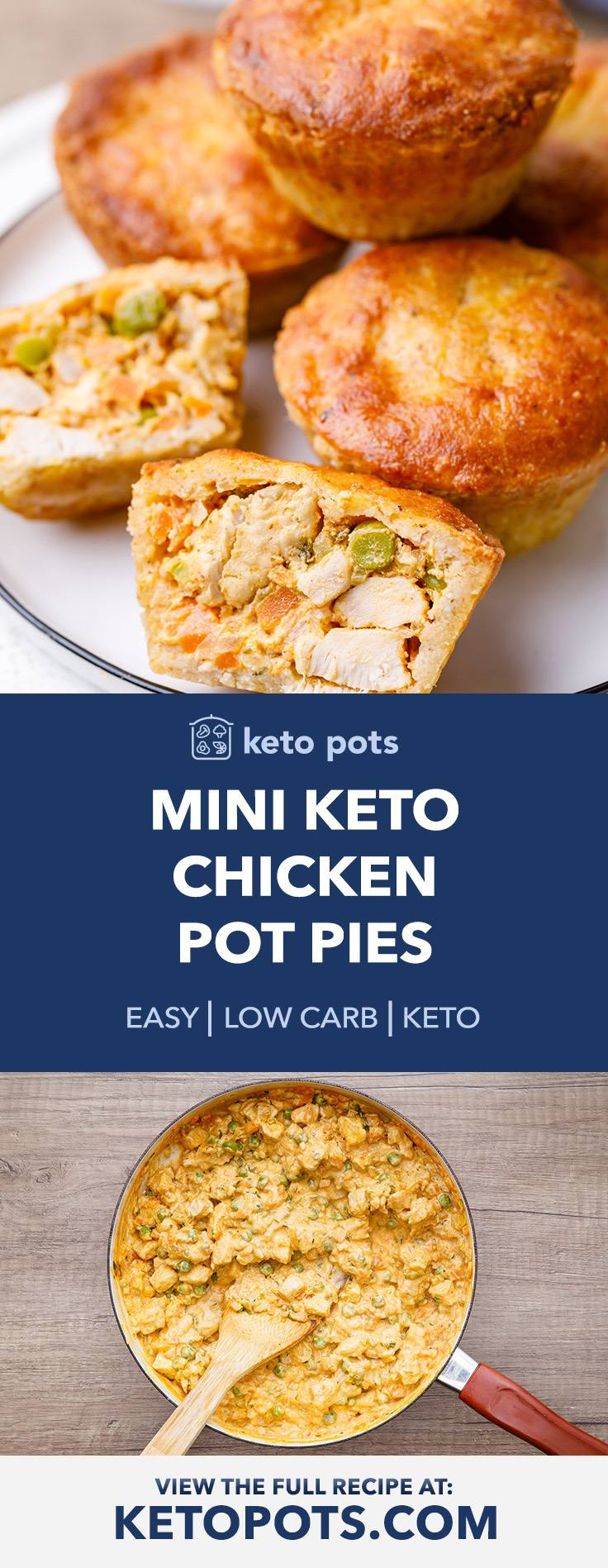 Mini Keto Chicken Pot Pies