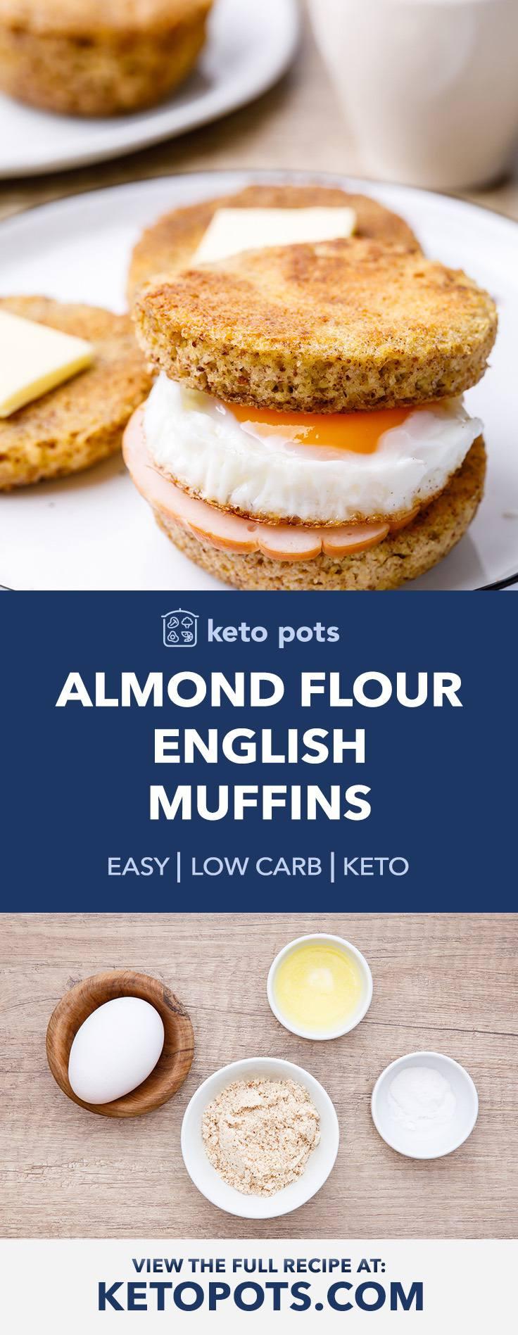 Homemade Almond Flour Keto English Muffins