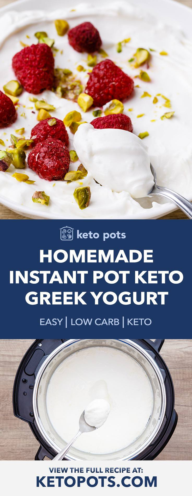 Easy Homemade Instant Pot Keto Greek Yogurt