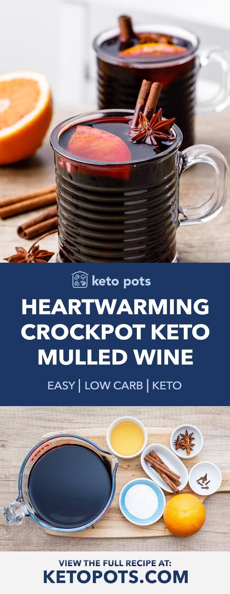 Heartwarming Crockpot Keto Mulled Wine