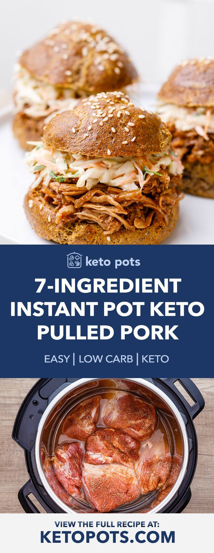 Easy 7-Ingredient Instant Pot Keto Pulled Pork