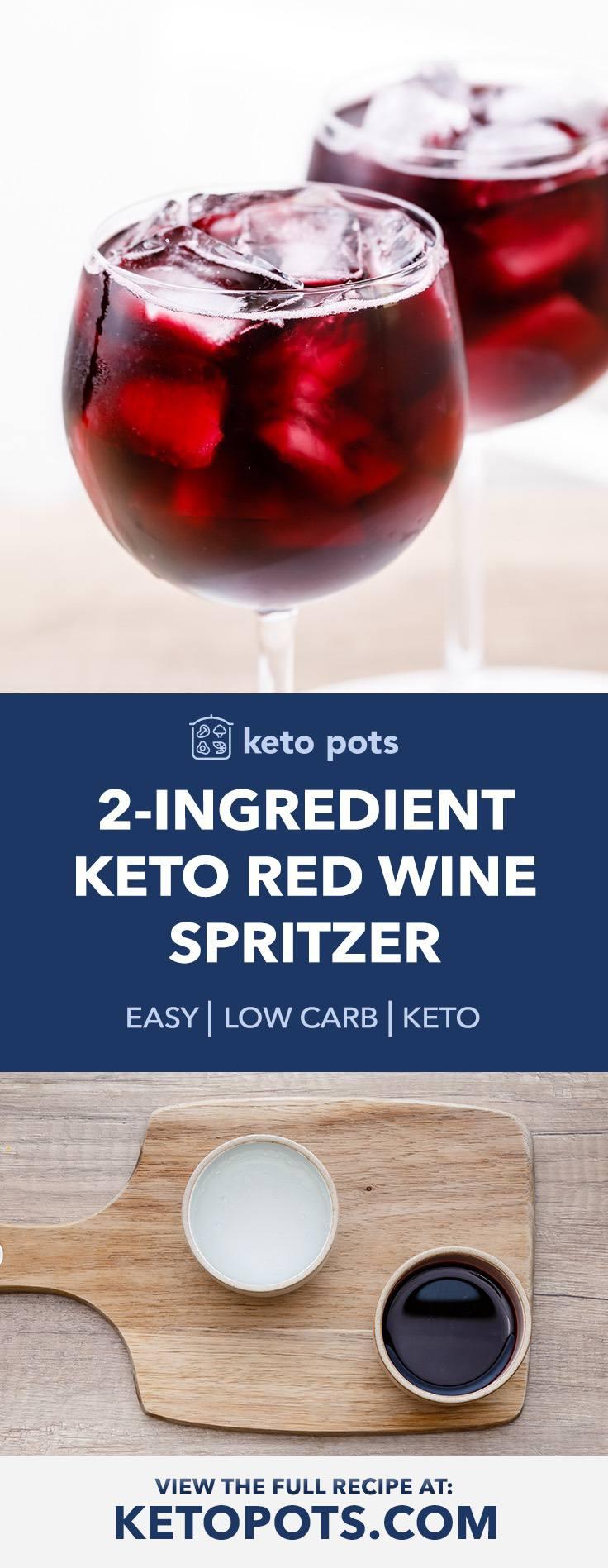 2-Ingredient Keto Red Wine Spritzer