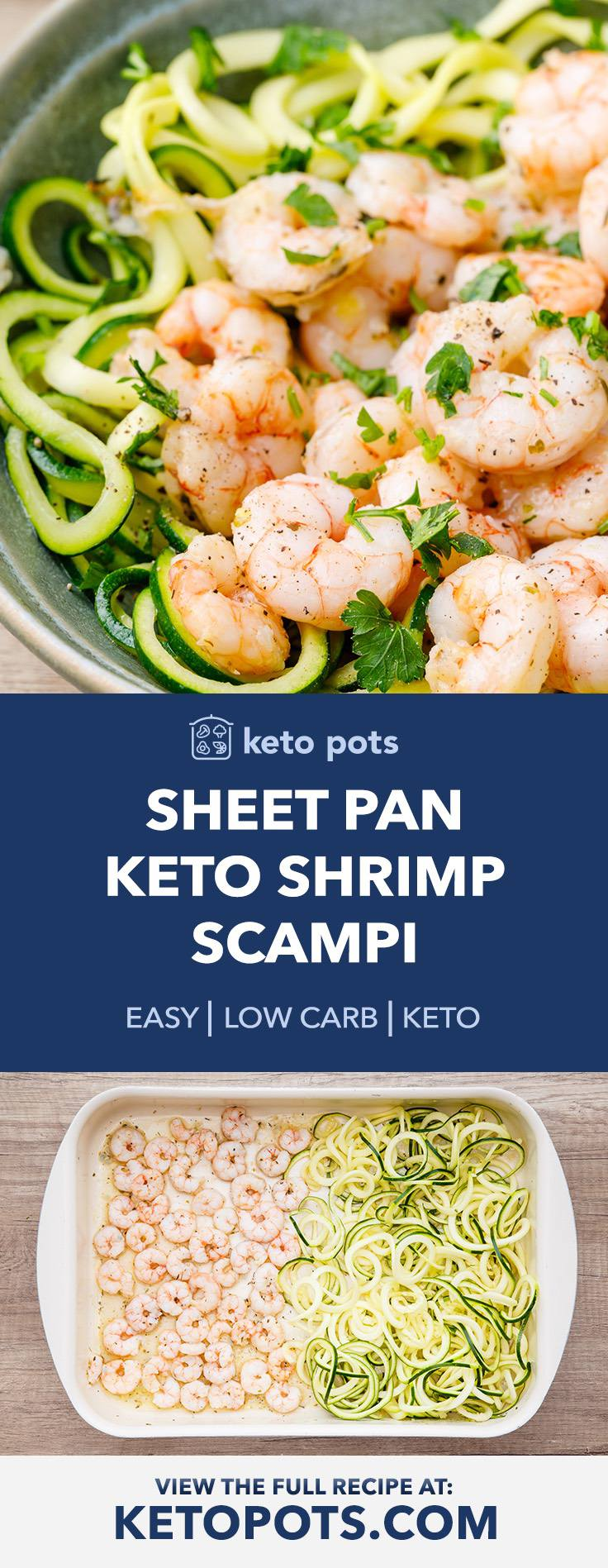 No Hassle Sheet Pan Keto Shrimp Scampi