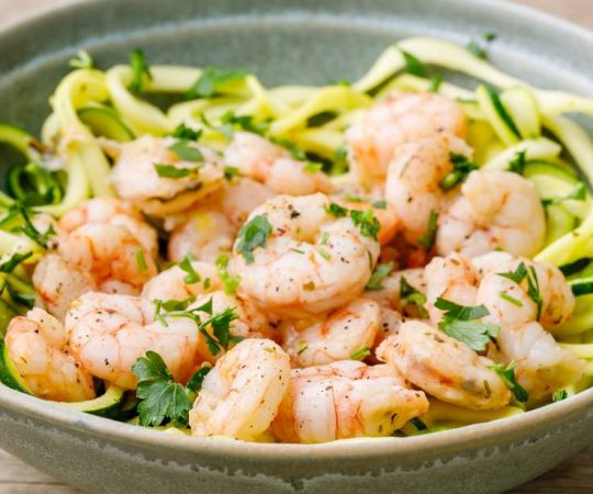 Sheet Pan Keto Shrimp Scampi
