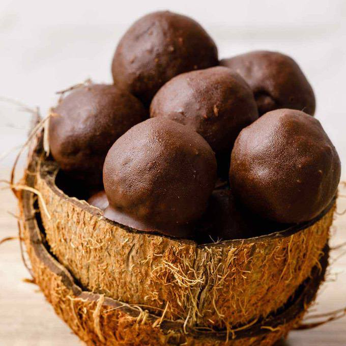Chocolate Dipped Keto Coconut Fat Bombs