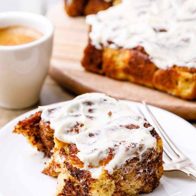 Keto Cinnamon Rolls with Cream Cheese Icing