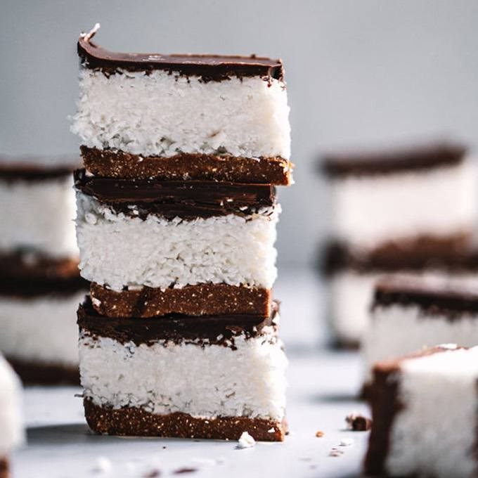 Keto Coconut Chocolate Bounty Slice