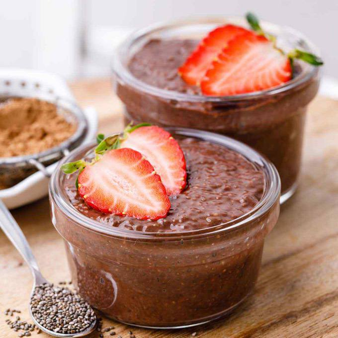 Overnight Keto Chocolate Chia Pudding