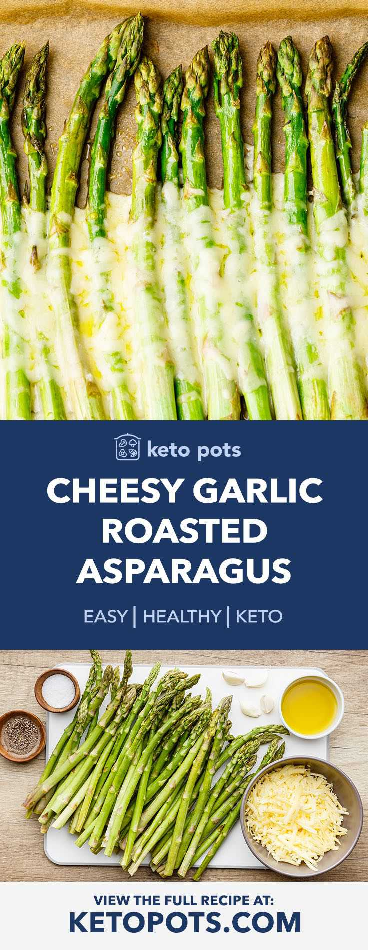 Cheesy Garlic Roasted Keto Asparagus