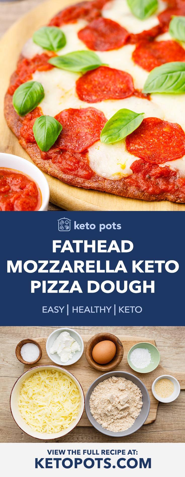Fathead Mozzarella Keto Pizza Dough Recipe