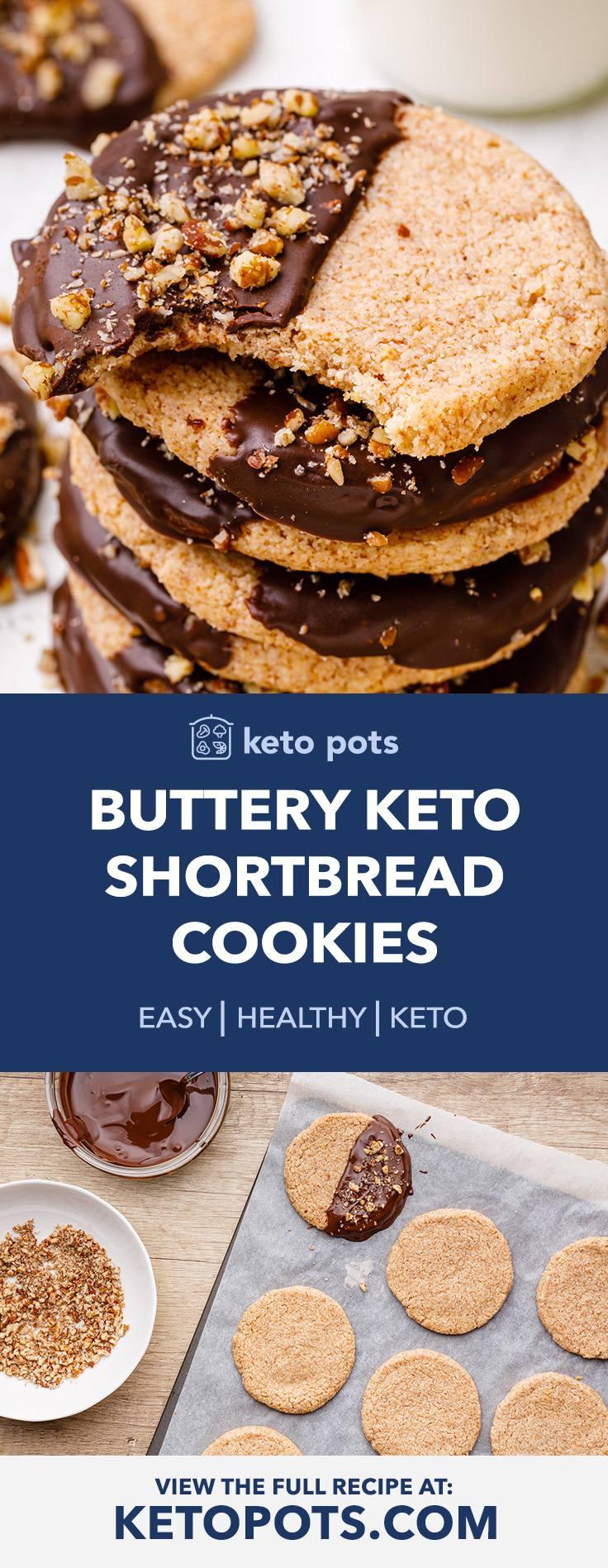 Keto Shortbread Cookies with Pecan Dust Crumble