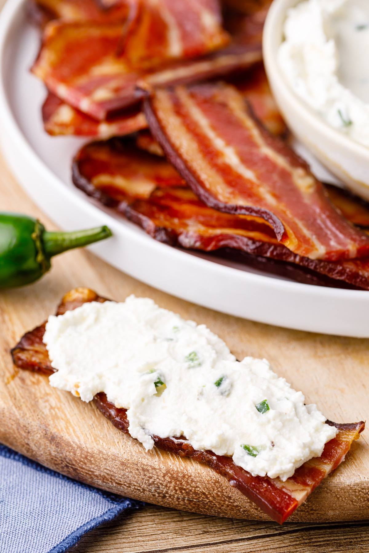 Bacon Chips With Jalapeno Cream Cheese