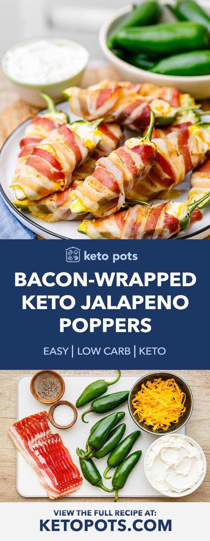 Bacon Wrapped Keto Jalapeno Poppers