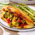 Broccoli Cheese Keto Stuffed Chicken Breast