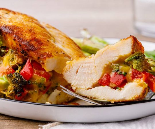 Broccoli Cheese Keto Stuffed Chicken Breast