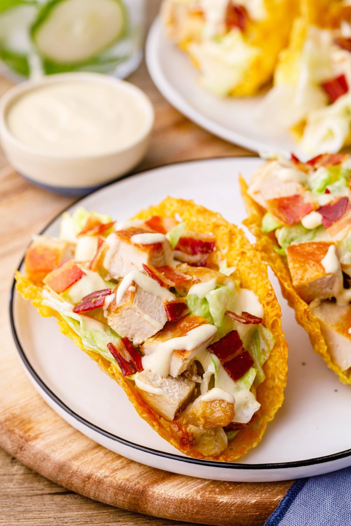 Chicken Caesar Salad Tacos