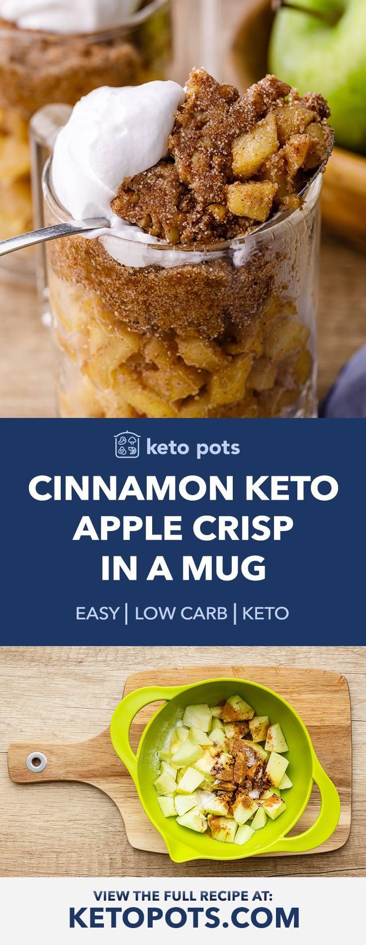 Cinnamon Keto Apple Crisp in a Mug