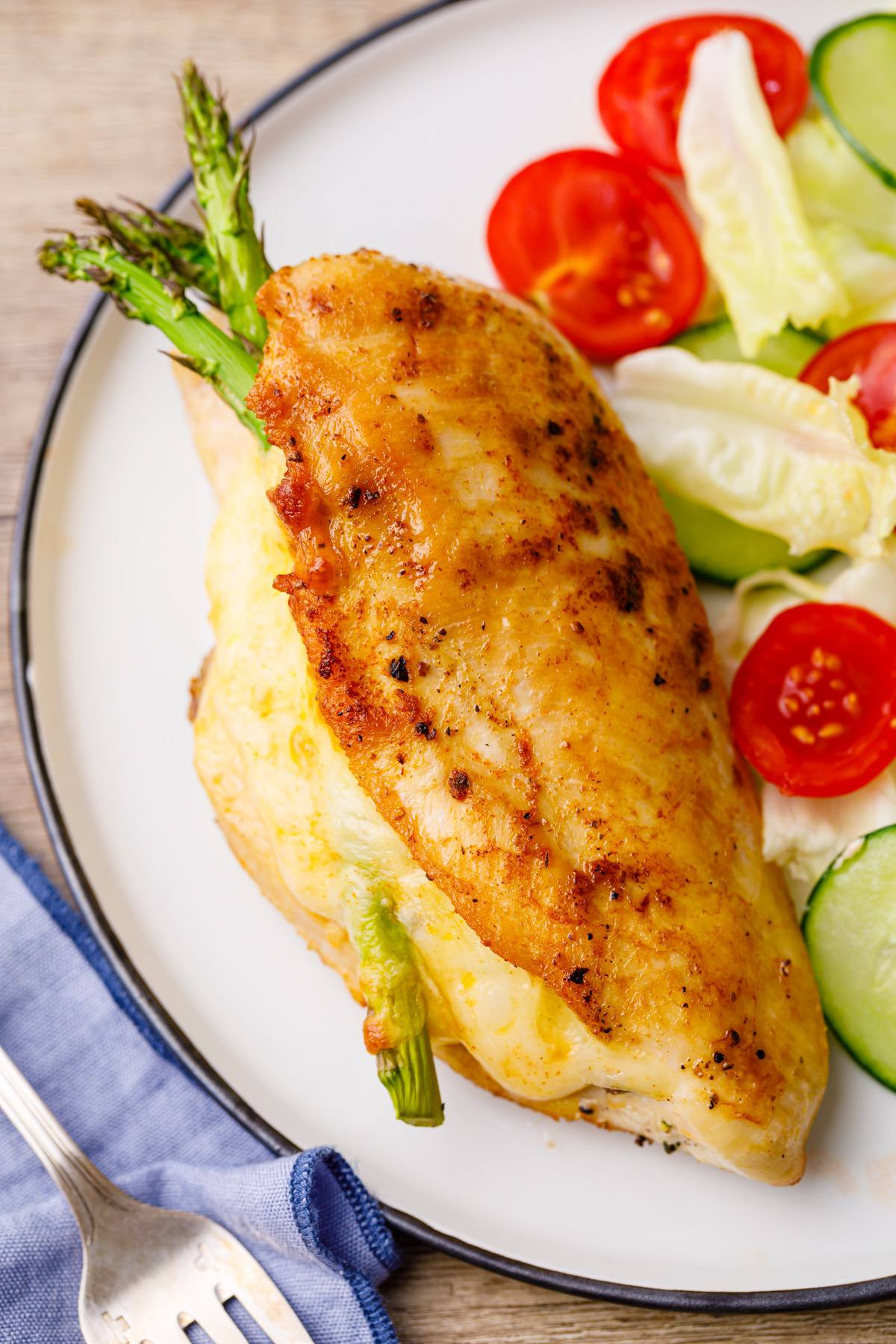 Keto Asparagus Stuffed Chicken Breast