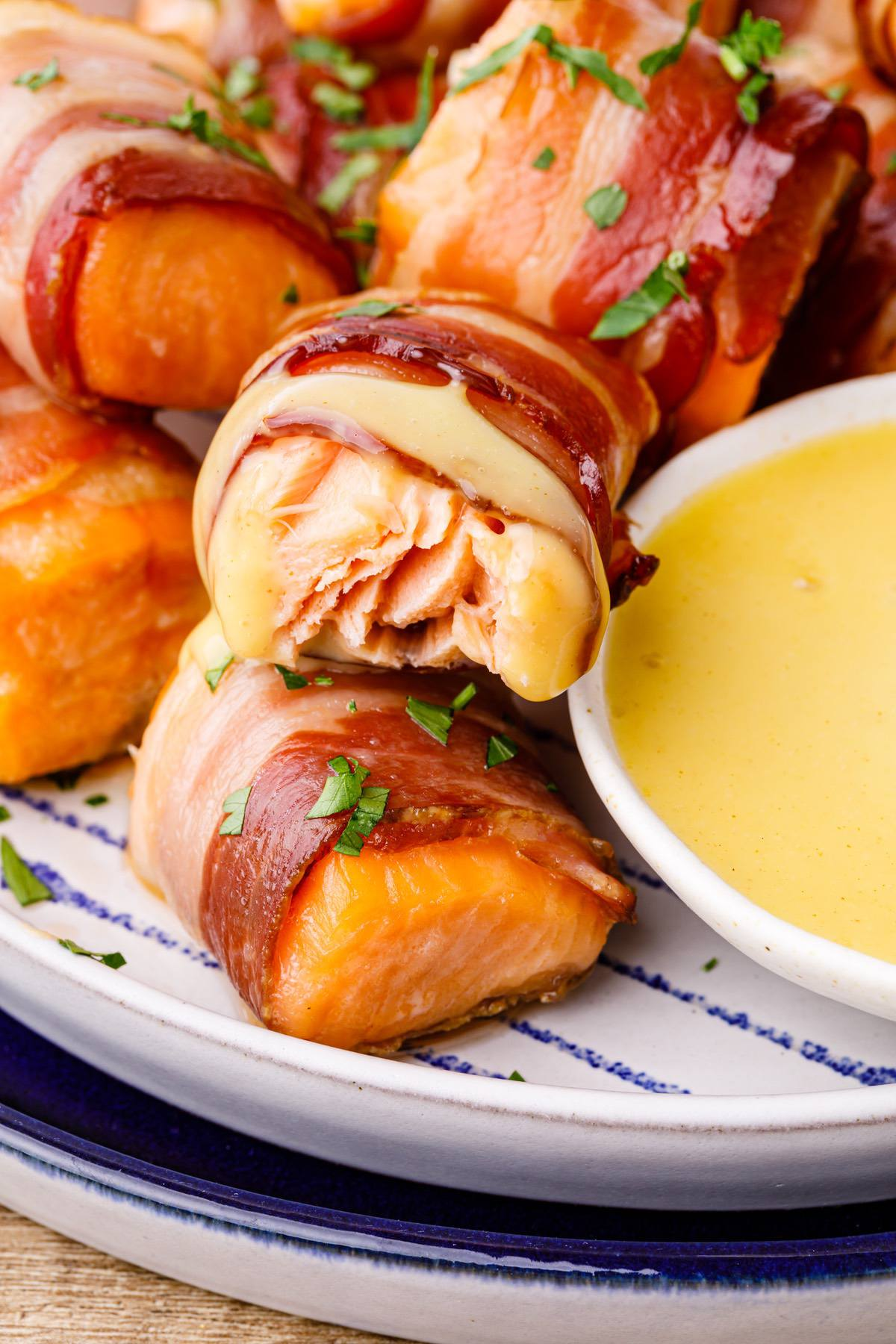 Keto Bacon Wrapped Salmon