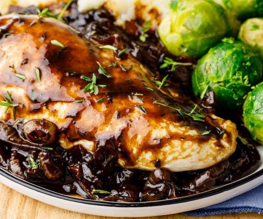 Keto Balsamic Chicken Skillet