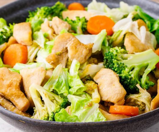 Keto Chicken Cabbage Stir Fry