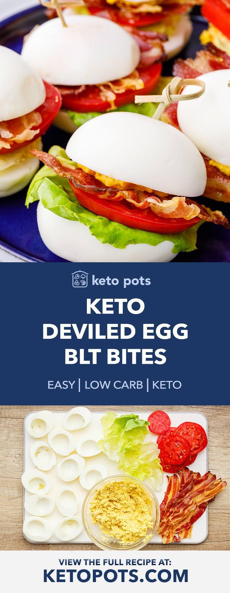 Keto Deviled Egg Blt Bites