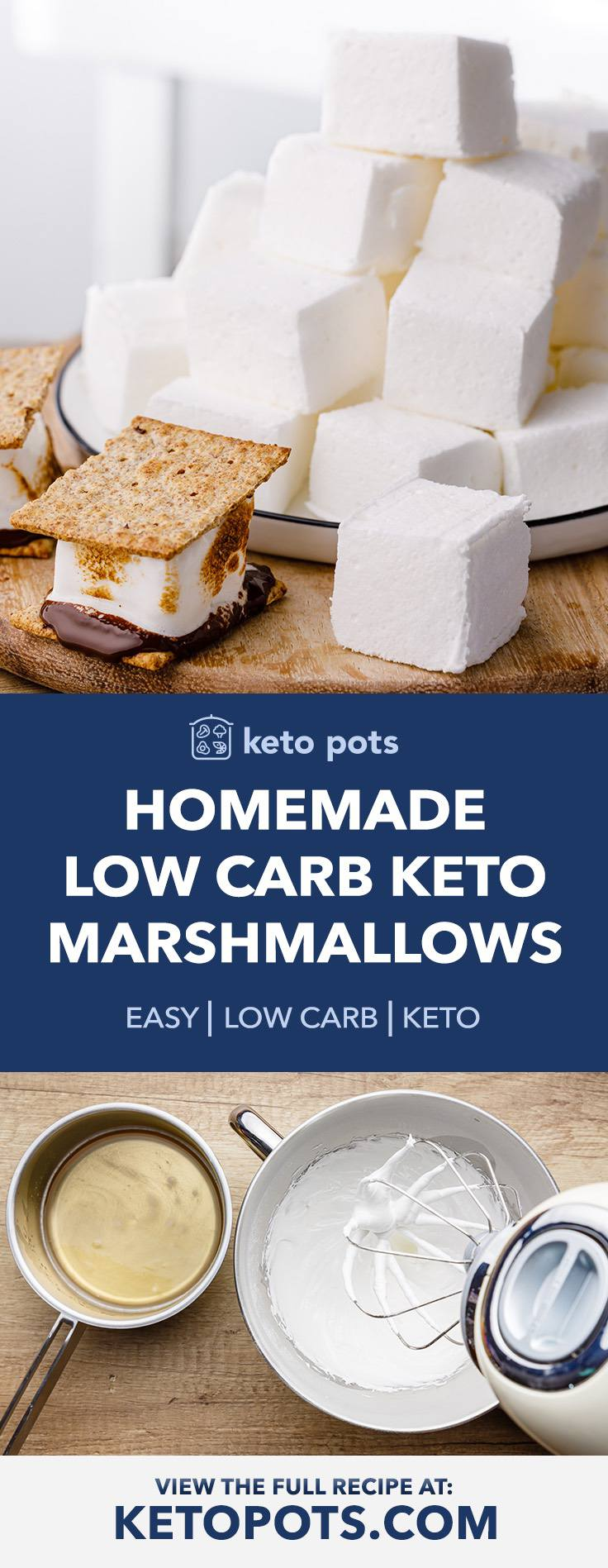 Easy Low Carb Keto Marshmallows for the Best Smore's Ever