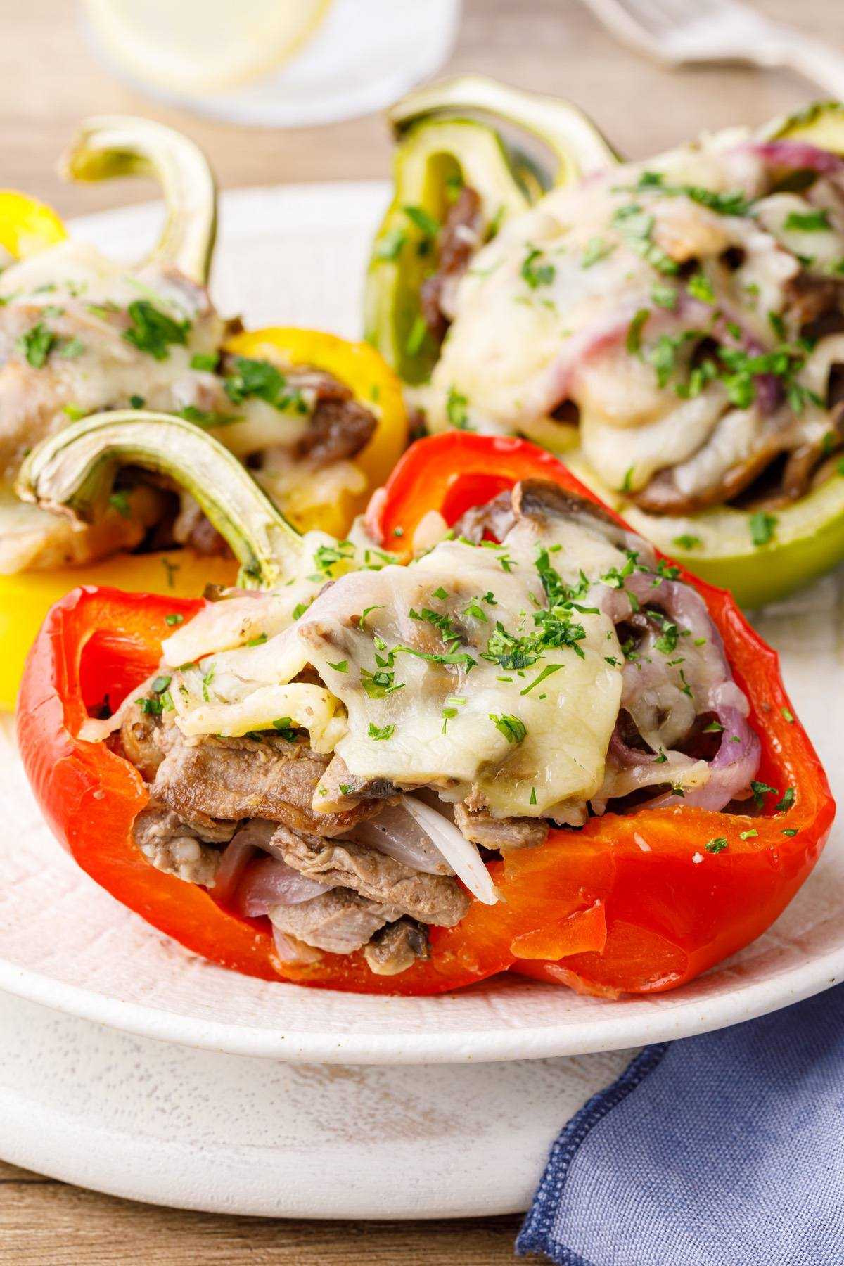 Philly Cheesesteak Keto Stuffed Peppers