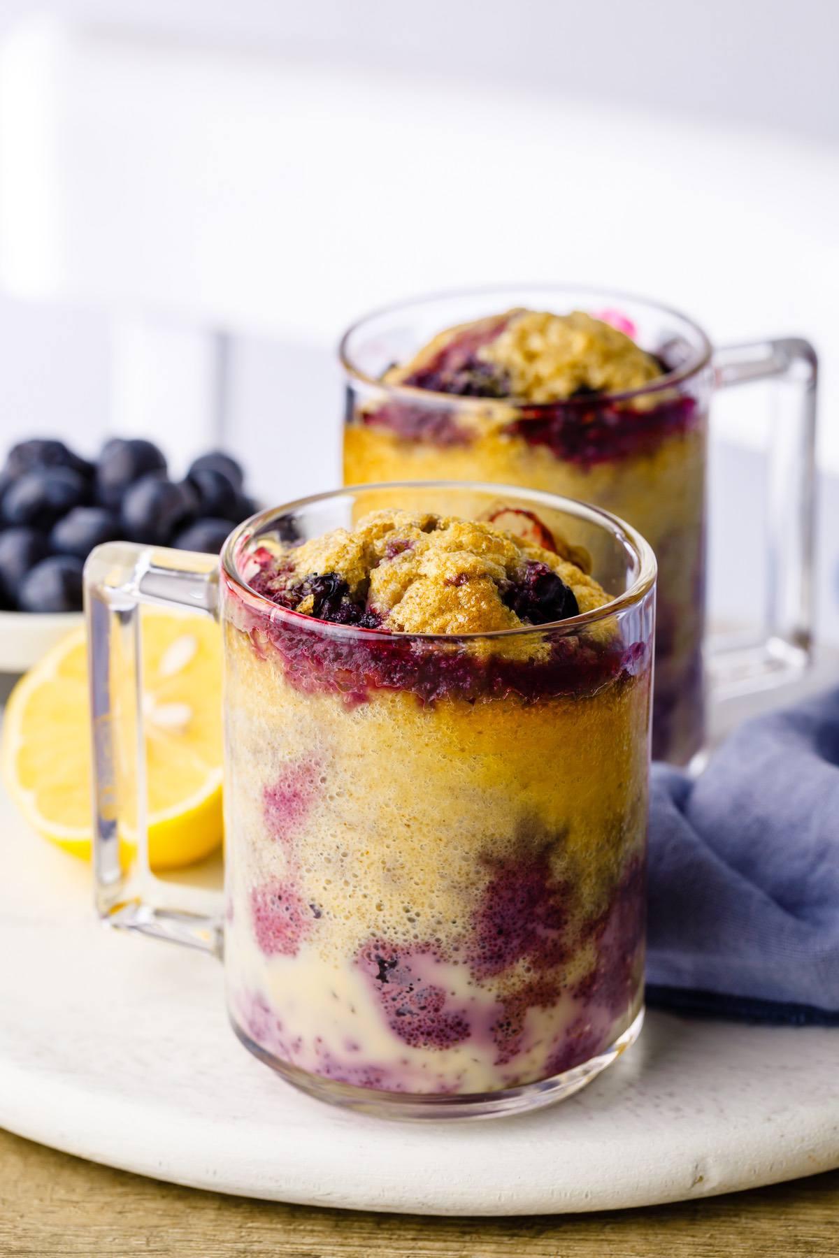 Blueberry Lemon Keto Mug Cake