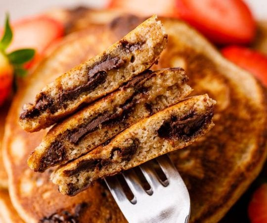 Chocolate Chip Keto Pancakes
