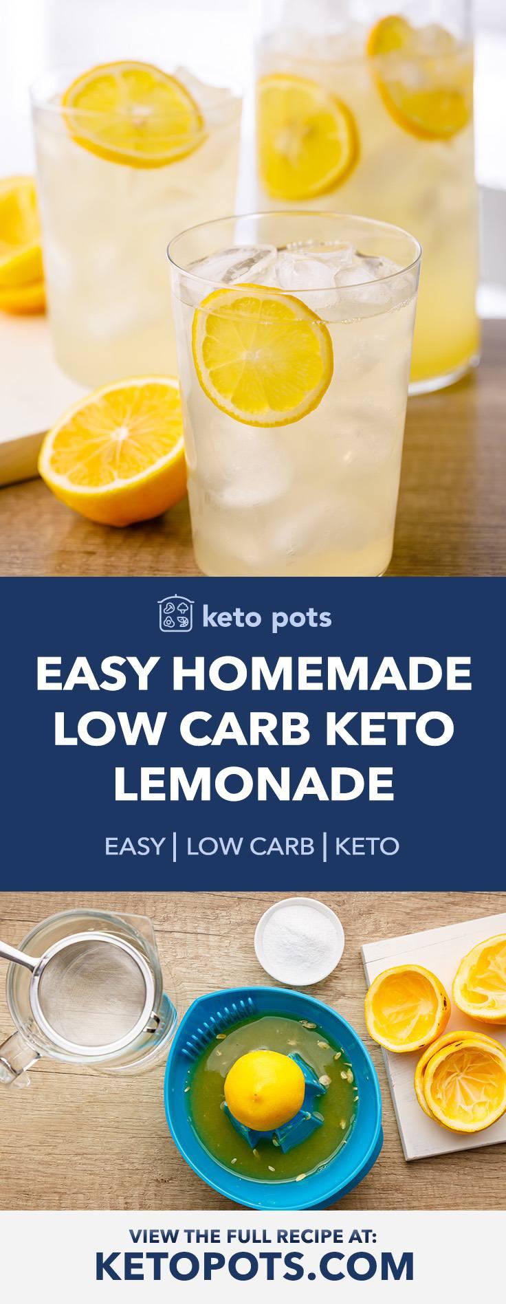 Easy Homemade Keto-friendly Lemonade