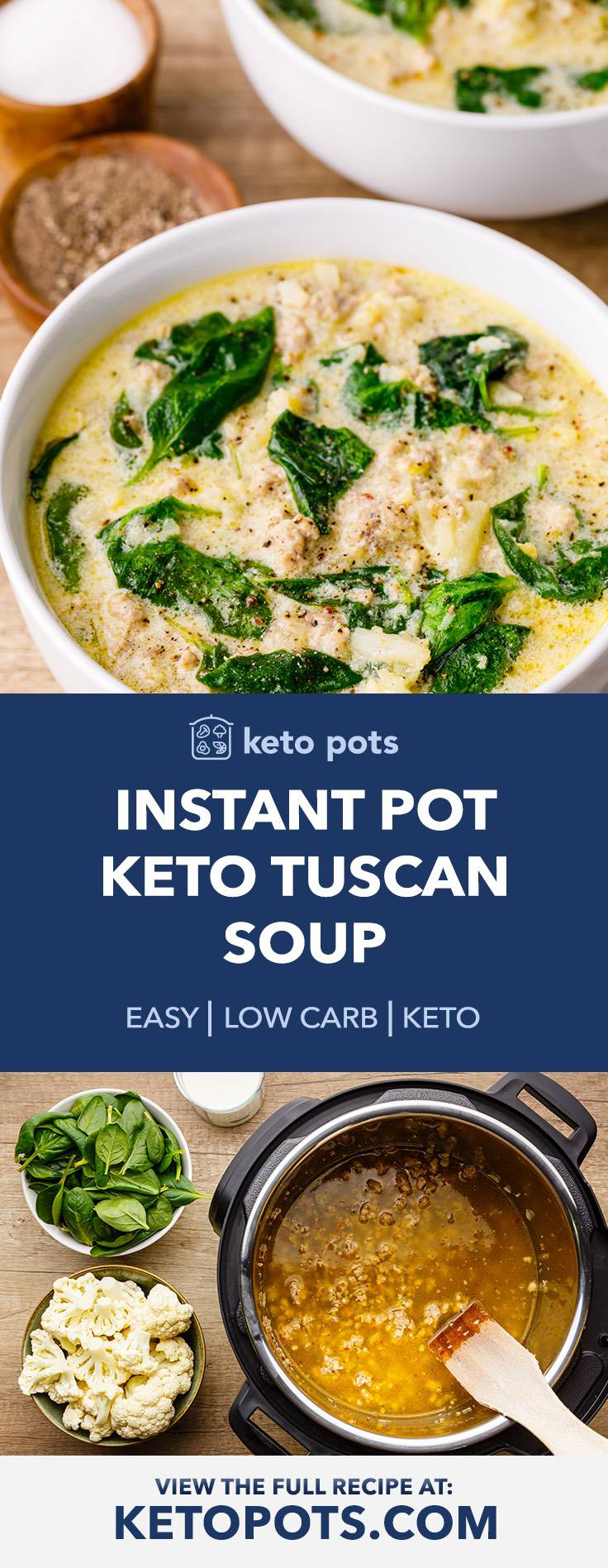 OMG-worthy Instant Pot Keto Tuscan Soup (Zuppa Toscana Recipe)