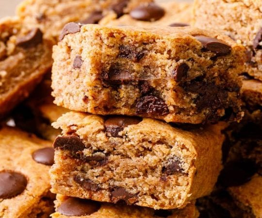 Keto Chocolate Chip Cookie Bars