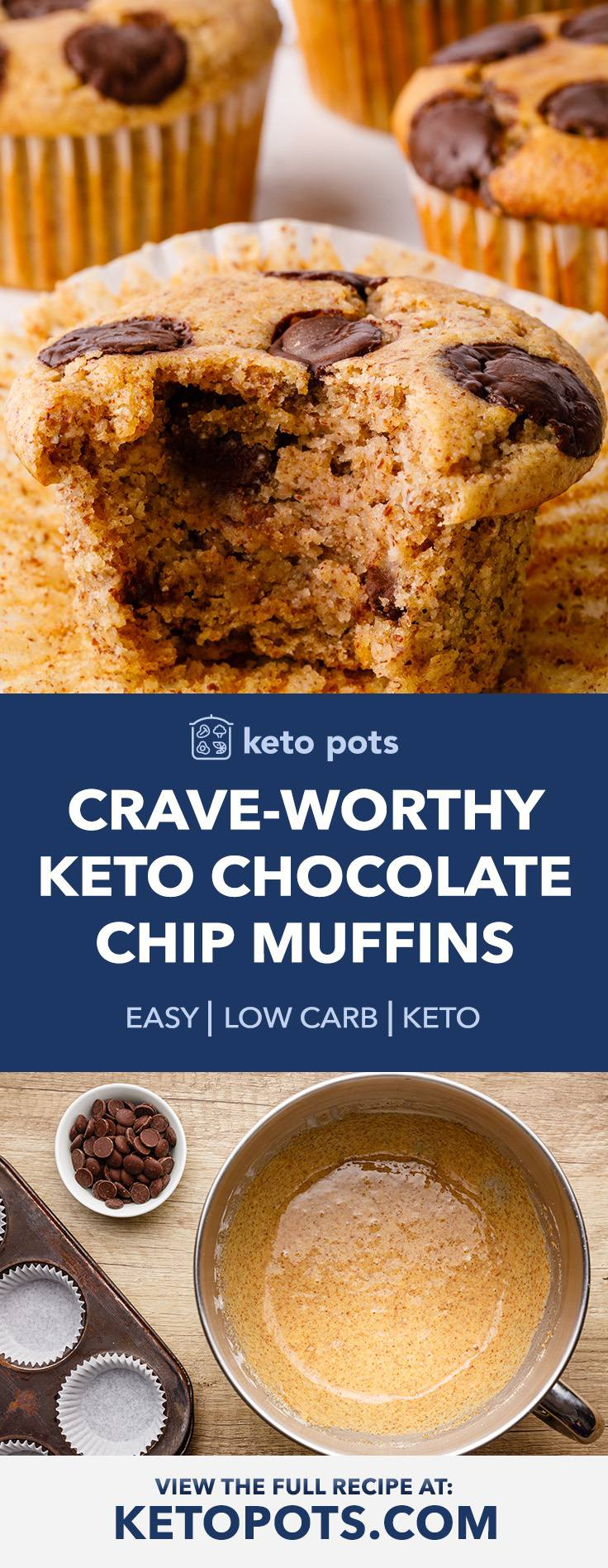 Easy Keto Chocolate Chip Muffins for a Quick Snack or Dessert