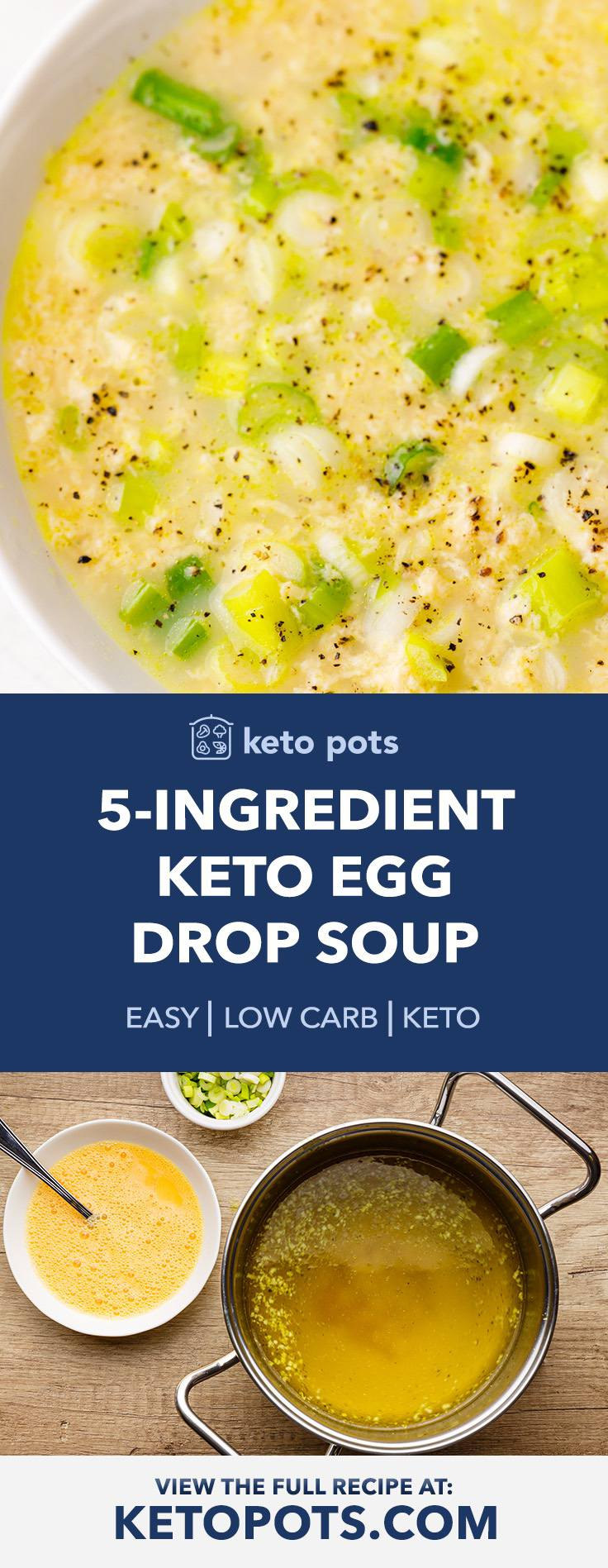Really Easy 5-Ingredient Keto Egg Drop Soup