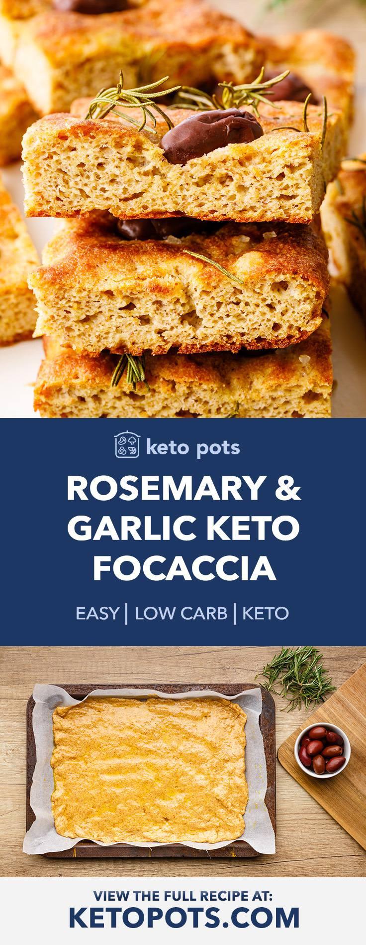 Rosemary and Garlic Keto Focaccia Bread