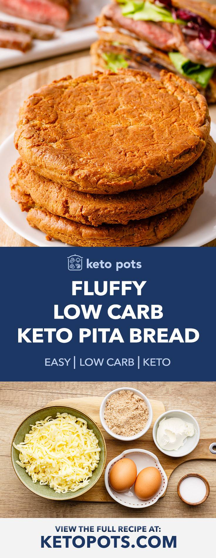 Low Carb (And Fluffy) Keto Pita Bread