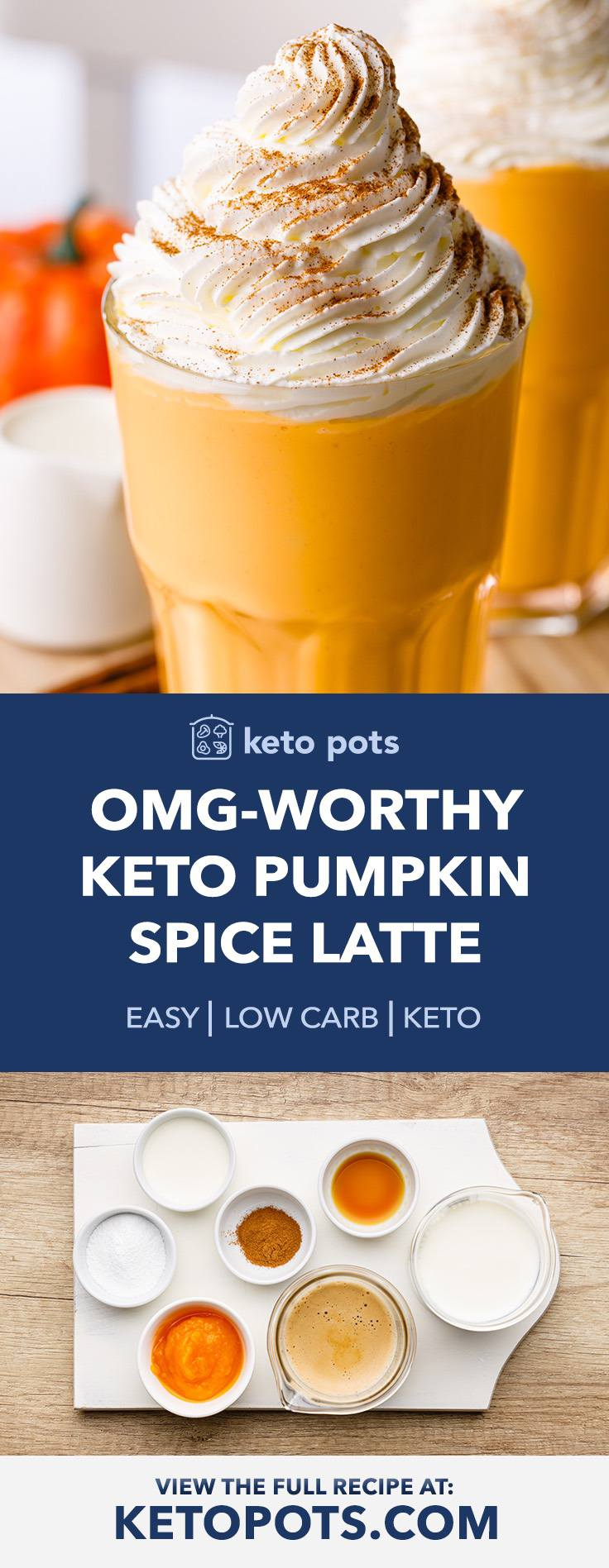 The Best Keto Pumpkin Spice Latte with Homemade Whipped Cream