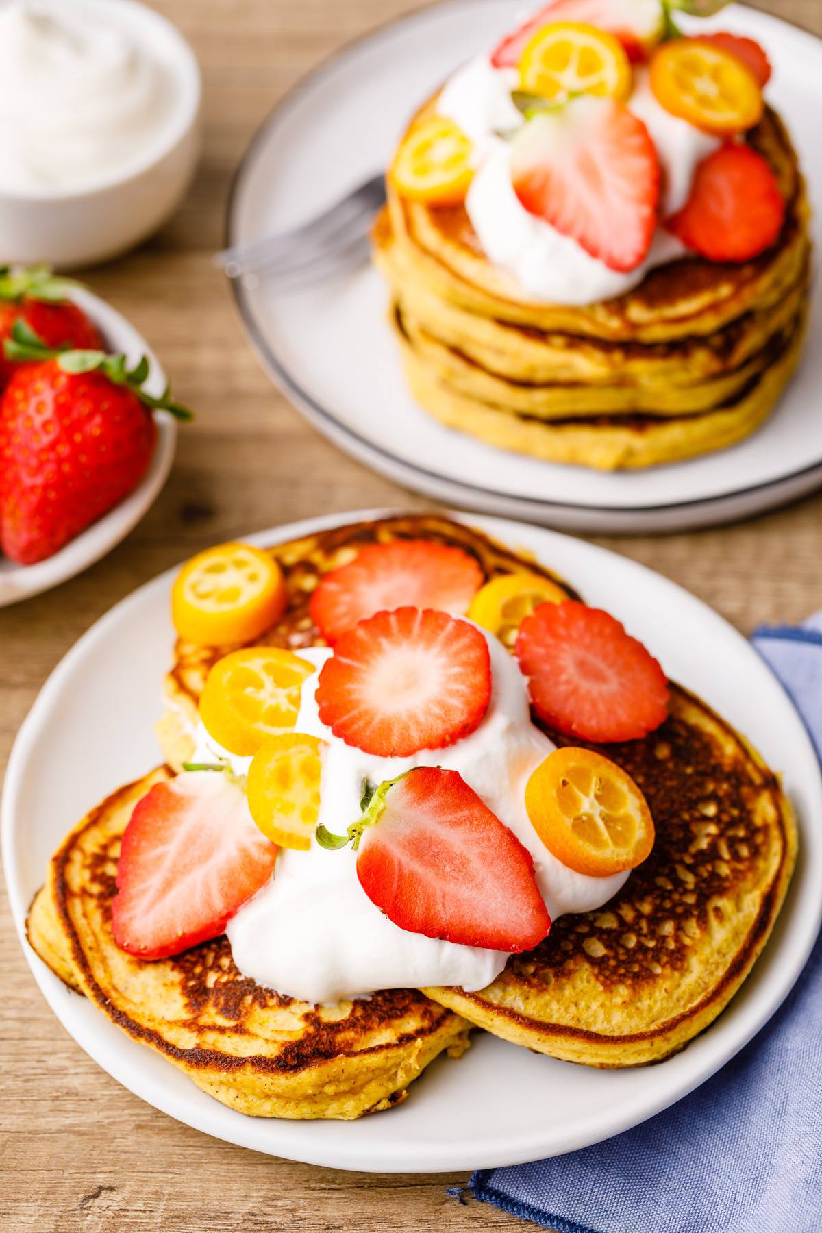 Lemon Ricotta Keto Pancakes