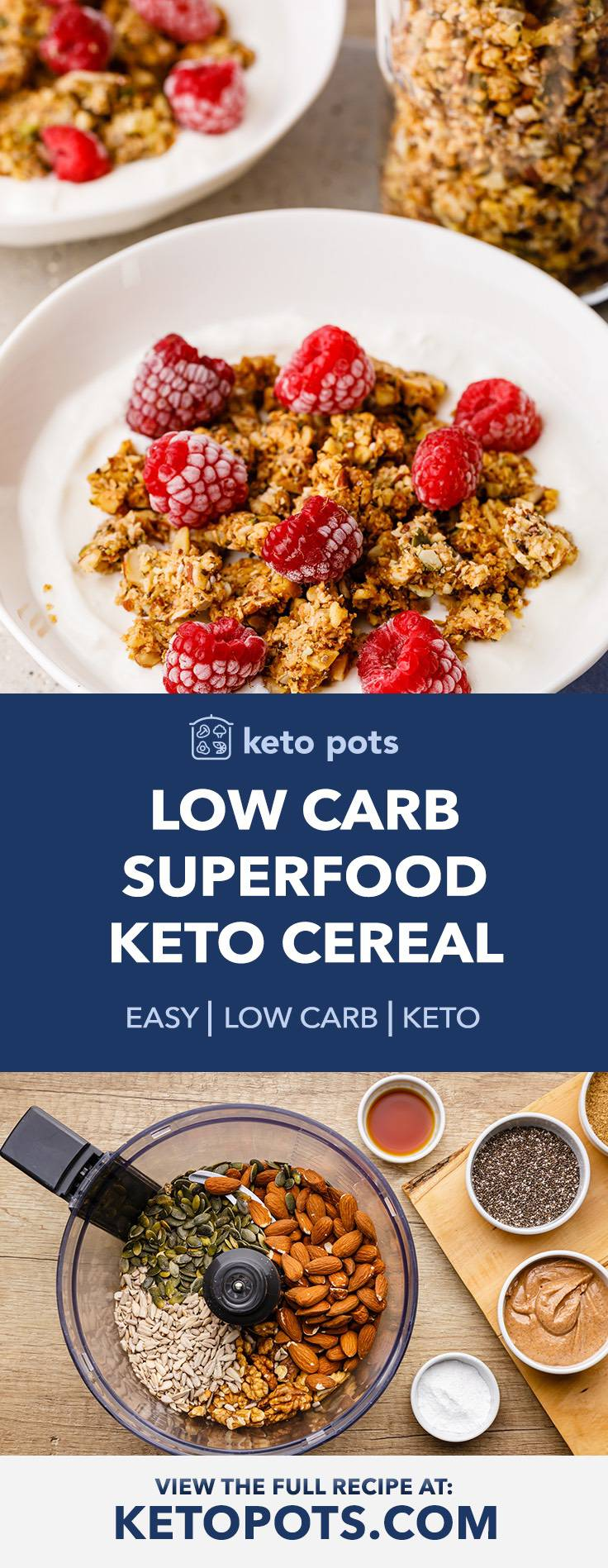Low Carb High Protein Keto Cereal