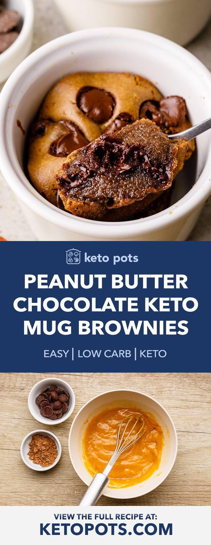 Gooey Peanut Butter and Chocolate Mug Brownies