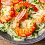 Shrimp Alfredo Keto Pasta