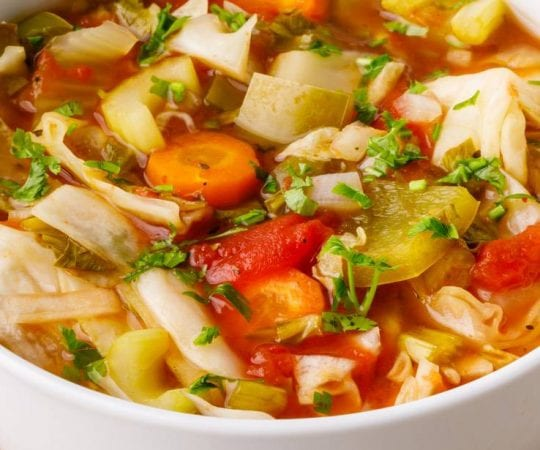 Slow Cooker Keto Cabbage Weight Loss Soup