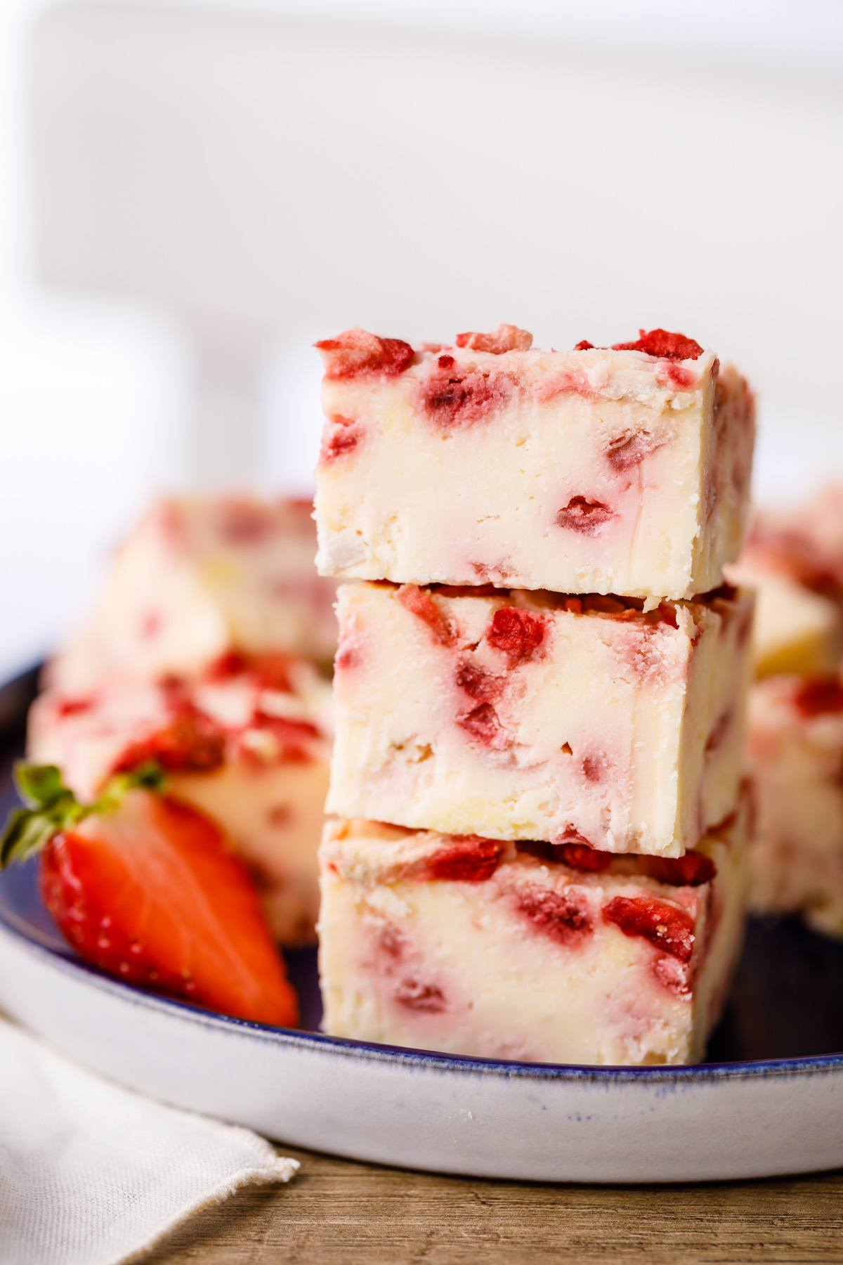 Strawberry Cream Keto Fudge
