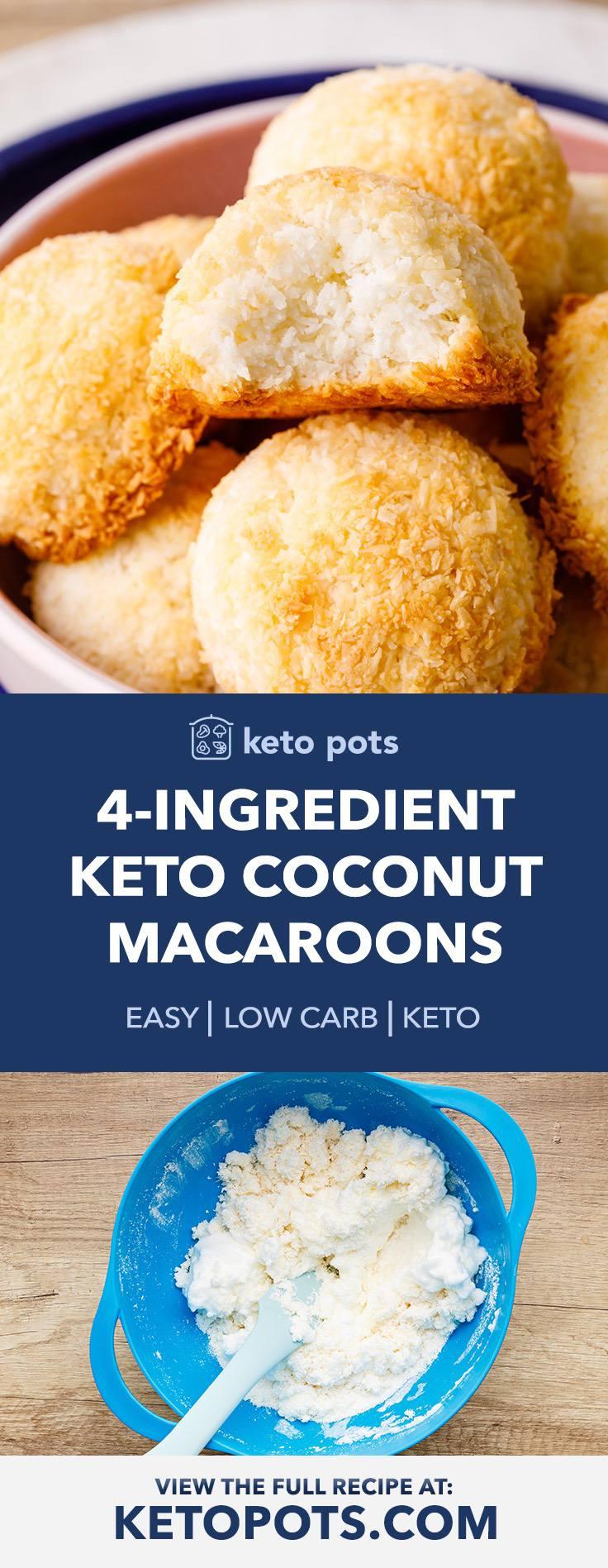 4-Ingredient Keto Macaroons