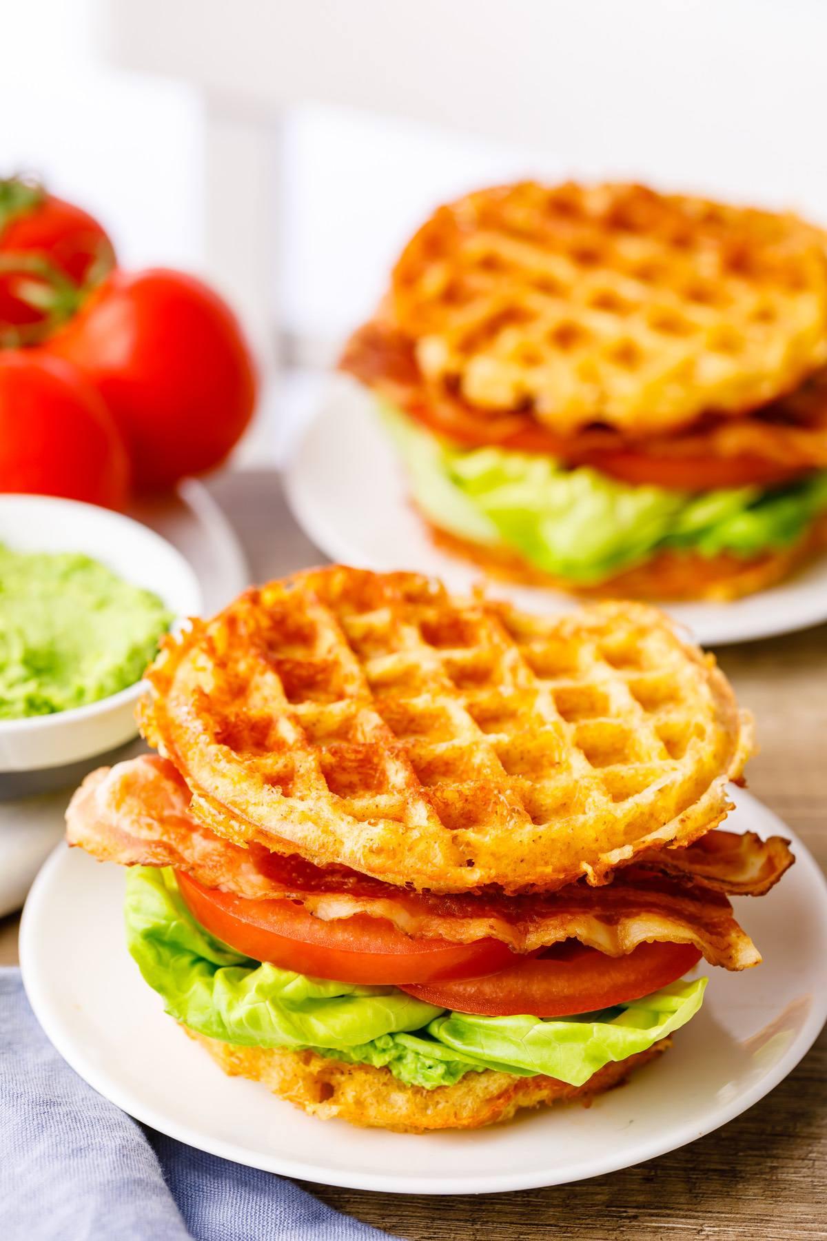 Keto Chaffle Blt Sandwich